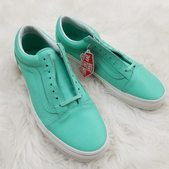 c85f552e4c VANS Old Skool Pastel Green Leather Shoes W 10